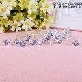 20 PCS 10*69mm Fashion Clear Crystal Rhinestone Flower Bridal Wedding Prom Party Hair Pins Women Jewelry