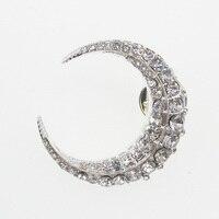20/50/100pcs Women's Rhinestone Moon Stars lapel pin Brooches Corsage pin women jewelry gift