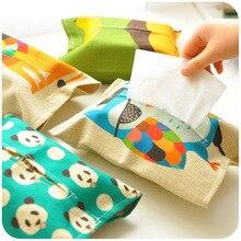 Креативная тканевая коробка для салфеток, тканевая коробка для гостиной, семейный автомобиль с милыми салфетками для ванной комнаты, коробки для хранения бумажных салфеток