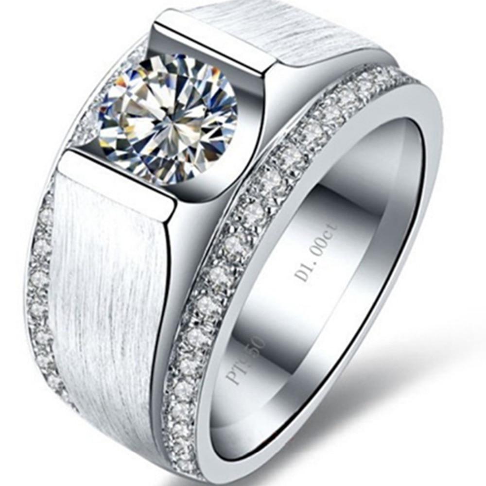 ผู้ชายหล่อแหวนจำลองเพชร1CTหมั้นแหวนเงินผู้ชายแต่งงานเครื่องประดับแหวนทองคำขาวชุบเครื่องประดับผู้ชาย-ใน ห่วง จาก อัญมณีและเครื่องประดับ บน AliExpress - 11.11_สิบเอ็ด สิบเอ็ดวันคนโสด 1