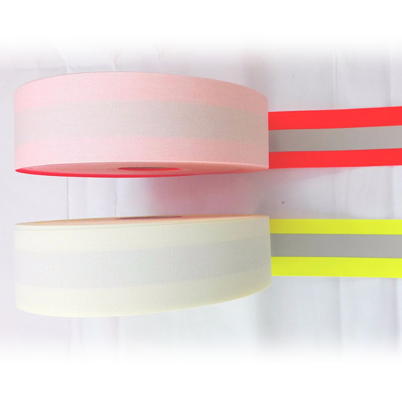 50mmx20mm 50 Meter Fire resistant Falme resistant Oxford reflective sewing tape sewn on safety clothinges