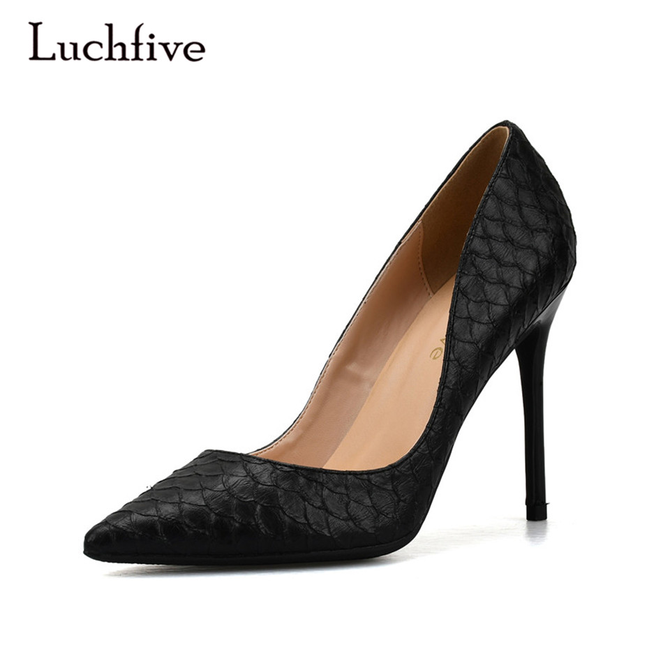 De Heel Design Qualité Grey 6 Talons Chaussures grey 8 10 Noir Luchfive Mariage Pompes Zapatos Mode Cm Serpent Haute Heel black Femme red Mujer Peau Rouge Heel Heel Femmes Gris nYfPXFq