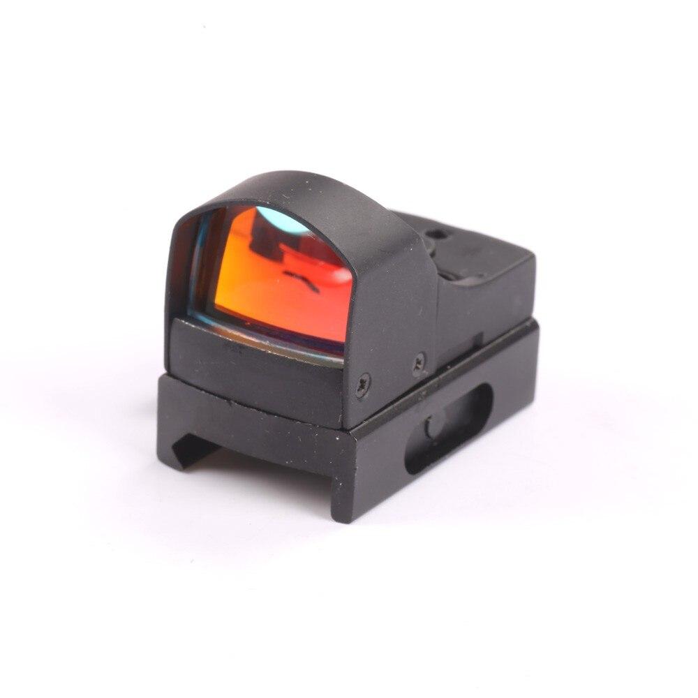 Tactical Mini Luce Verde Rossa del Puntino di Vista Olografica Laser Rifle Scope Sight Optics Cannocchiale per la Caccia caza Regolabile