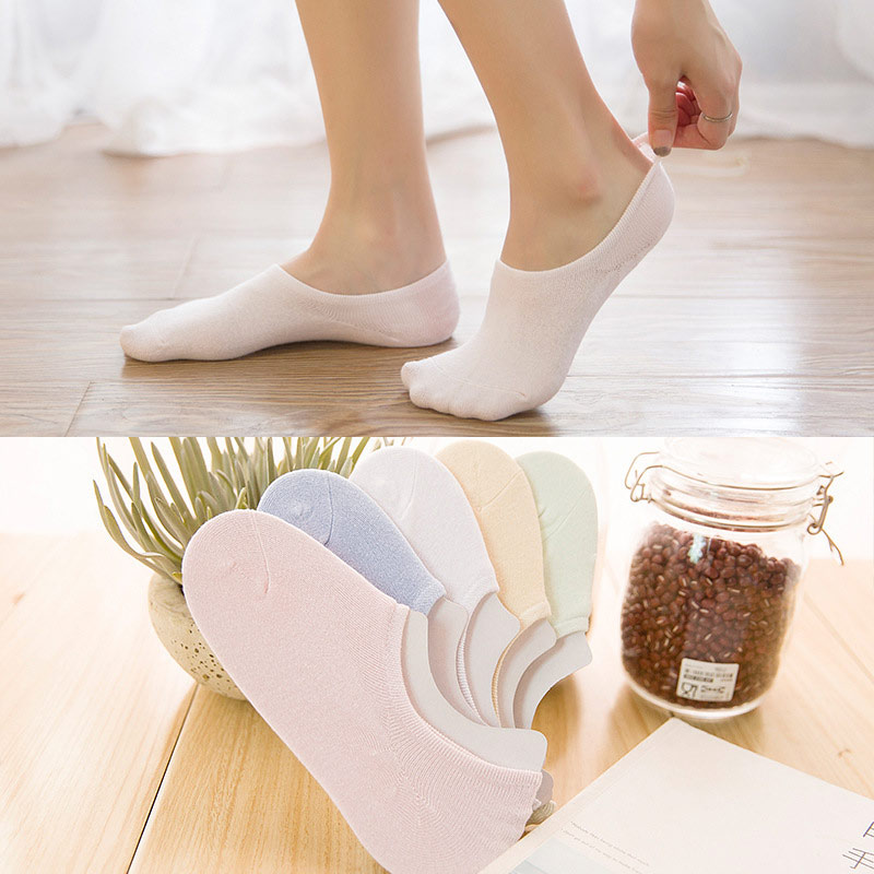 2 Pairs/Lot Sock Ladies Spring Summer New Japanese Solid Color Low Help Invisible Candy Boat Women 5 Colors