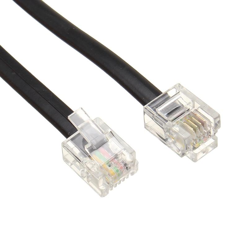 Portable Pure Copper 0 6m Telephone Line Cord Cable Wire