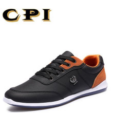 KPI Nye Mænds Casual Leather Shoes Britisk Style Fashion All-Match Lace Up Casual Shoes Åndbar Komfortabel CC-37