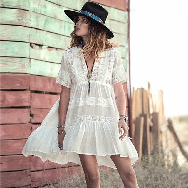 Vestidos blancos estilo boho