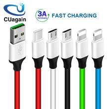 Quick Charging USB Cable for Mobile Phone Micro USB Type C Charger Cable for iPhone Samsung 6 Charging Cable Micro Charger(China)