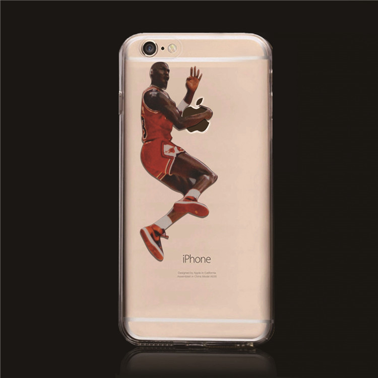 new concept 0f9ec 96463 US $118.0 |Popular NBA Stars case for iphone 6 Transparent Case Michael  Jordan hard case cover for iphone 6 4.7'' on Aliexpress.com | Alibaba Group