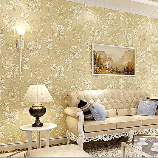 luxury europe home decor thicken wallpaper 3d durable non