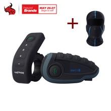 VNETPHONE V8 1200 м Bluetooth Интерком мотоциклетный шлем переговорные гарнитура NFC удаленной Управление полный дуплекс + FM в том числе один маска