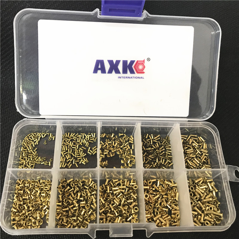 1000Pcs M0 9 M1 3 M1 5 M1 7 Mix GB876 Tubular Rivets Double sided Circuit Board PCB Nails Copper Hollow Rivet Nuts Kit in Rivets from Home Improvement