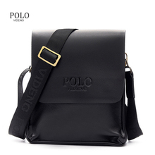 Classical Design Polo Famous Brand Men Messenger Bags PU Leather Men's Crossbody Handbags(China)
