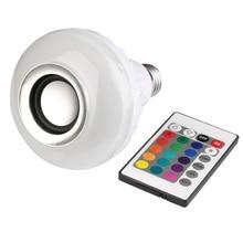 E27 Wireless Bluetooth Mini Remote Control Inteligente LED RGB Luz de Color Cálido Bombilla Lámpara de Música de Altavoces de Audio