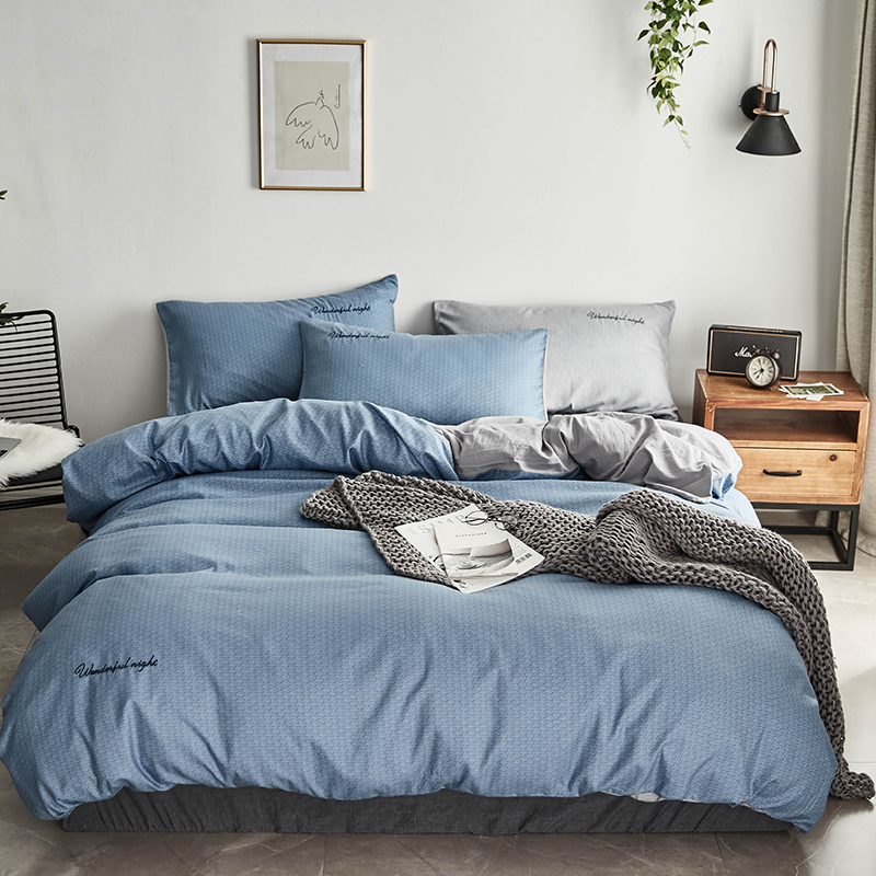 ROWBOE brand New home furnishings Bedding set cotton fashion simple quilt cover sheets pillowcase modern style home textileROWBOE brand New home furnishings Bedding set cotton fashion simple quilt cover sheets pillowcase modern style home textile