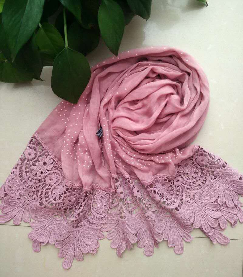 New design cotton lace scarf with diamond,floral lace scarf,Muslim hijab,cotton shawls,cape,shawls and scarves,muffler,shawls QS