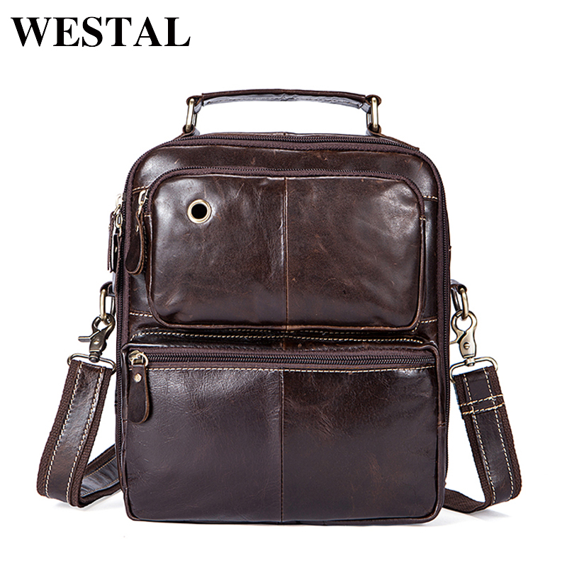 WESTAL Genuine Leather Men's Bags Male Crossbody Bags Small Flap Casual Messenger Bag Men's Shoulder Bag genuine leather 8951 neweekend genuine leather bag men bags shoulder crossbody bags messenger small flap casual handbags male leather bag new 5867