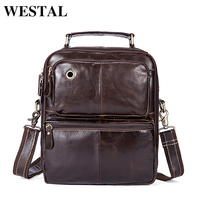WESTAL Genuine Leather Men S Bags Male Crossbody Bags Small Flap Casual Messenger Bag Men S