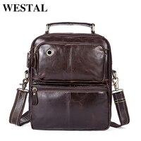 WESTAL Genuine Leather Men S Bags Male Crossbody Bags Small Flap Casual Messenger Bag Men S