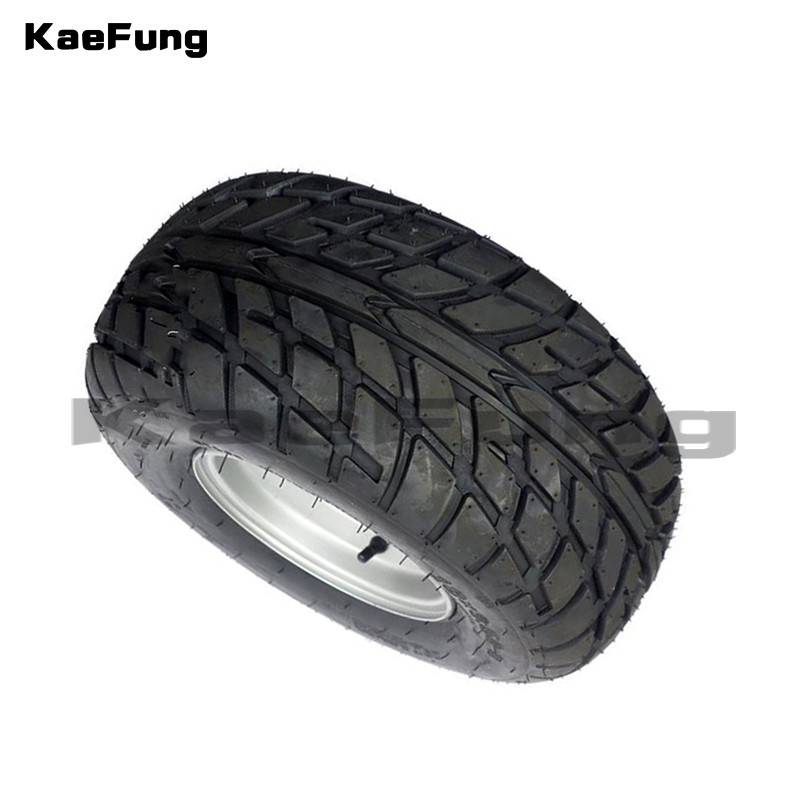 ATV 8-Inch Vacuum High Wear-Resistant Tires 18X9.50-8 18*9.50-8 (220/55-8) tyre Road Tires With Iron Wheels 10 inch professional wear resistant pu wheels for carts trailers puncture proof solid wheelbarrow trolley tyre wheels
