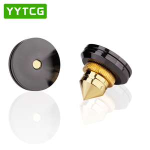 Image 4 - YYTCG 4 Sets  speakers Stand Feet Foot Pad Pure copper gold loudspeaker box Spikes Cone Floor Foot Nail M28*26