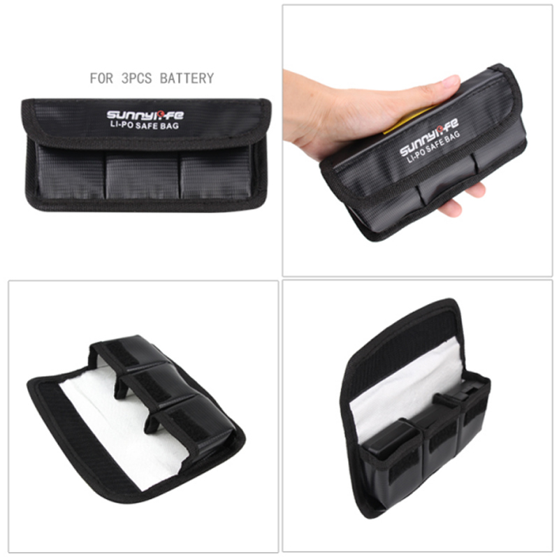 for DJI OSMO Action Camera LiPo Battery Bag Storage Bag Explosion proof Battery Case Cover for DJI OSMO Action Accessories in Sports Camcorder Cases from Consumer Electronics