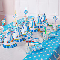 1 Set 43 Pcs Of Kids Birthday Party Decoration Suit For 6 People Use Cartoon Cute
