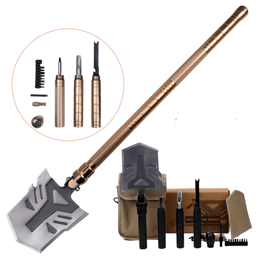 2018 New Professional High Quality Shovel Outdoor Survival Multifunctional Folding Shovel Equipment Tools for Garden Camping foldable shovel multifunctional camping military tactical survival outdoor garden tools manganese steel selfdefense tool quality