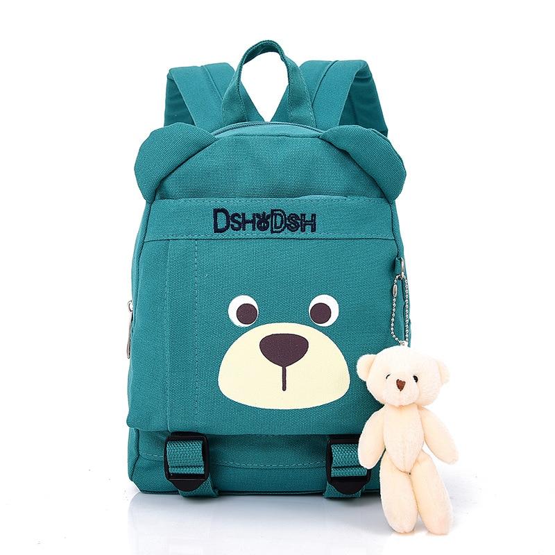 2017 New Cute font b Kids b font School Bags Cartoon Bear Dolls Canvas font b