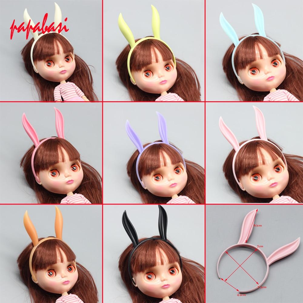 1PCS Cute Rabbit Headband Head Band for blyth doll BJD hair band 16inch 18inch dolls hair accessories uncle 1 3 1 4 1 6 doll accessories for bjd sd bjd eyelashes for doll 1 pair tx 03