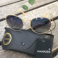 High Quality Real Glass Lens Round Sunglasses Women Men Luxury G15 Sunglasses Driving Sun Glasses Ladies Female Sunglasses UV400