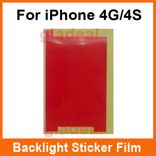 100 Pcs/Lot LCD Backlight Sticker Film Refurbishment Replacement Repair Spare Parts For iPhone 4 4S
