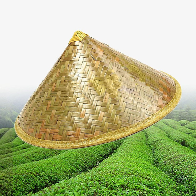 Chinese Style Bamboo Rattan Hats Retro Handmade Weave Straw Hat Tourism Rain  Cap Dance props Cone Fishing Sunshade Fisherman Hat 1204a1b07e07