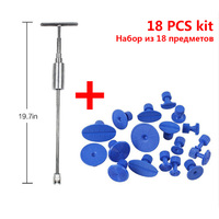 Long T Pull Car Dent Repair Tool Paintless Car Body Dent Sheet Metal Repair Tool Puller Auto Dent Remover With 18 Suction Cups