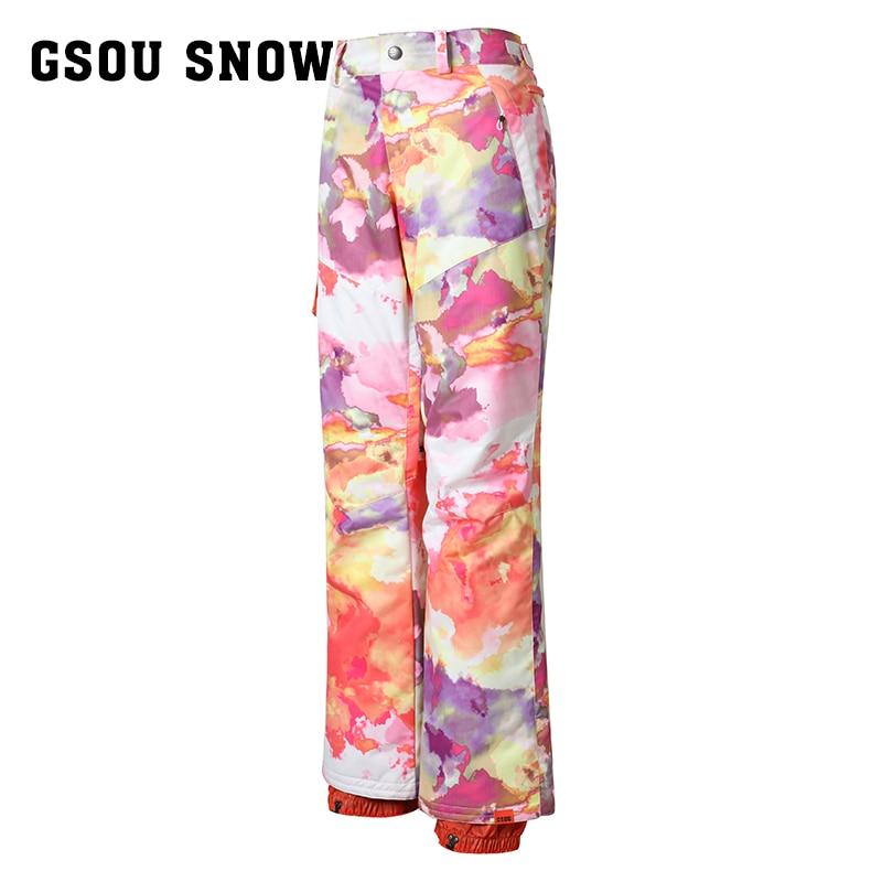 Gsou snow double snowboarding pants pants women snow winter outdoor waterproof trousers ...