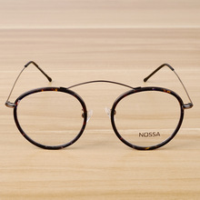 bc1f693662 2018 Lentes Opticos Mujer Round Frame Metal Thin Foot Short-sighted Glasses  And Fashion Personality