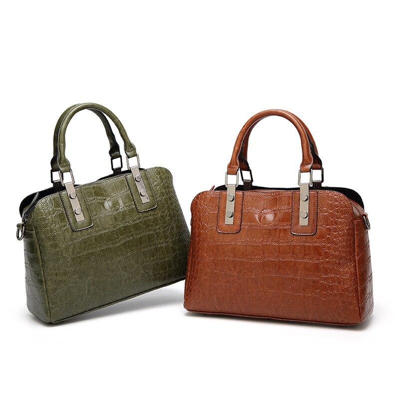 df311cf1179a Elegant PU Leather Women Handbag Women Shoulder Bags Classy High Quality  Women Leather Handbags Tote Female Women Bag -in Shoulder Bags from Luggage    Bags ...