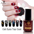 Saviland 1pcs 2016 New Arrival Cat Eye Top Coat LED Lamp with Magnet Nail Gel Varnish Polish Magnetic Top Coat