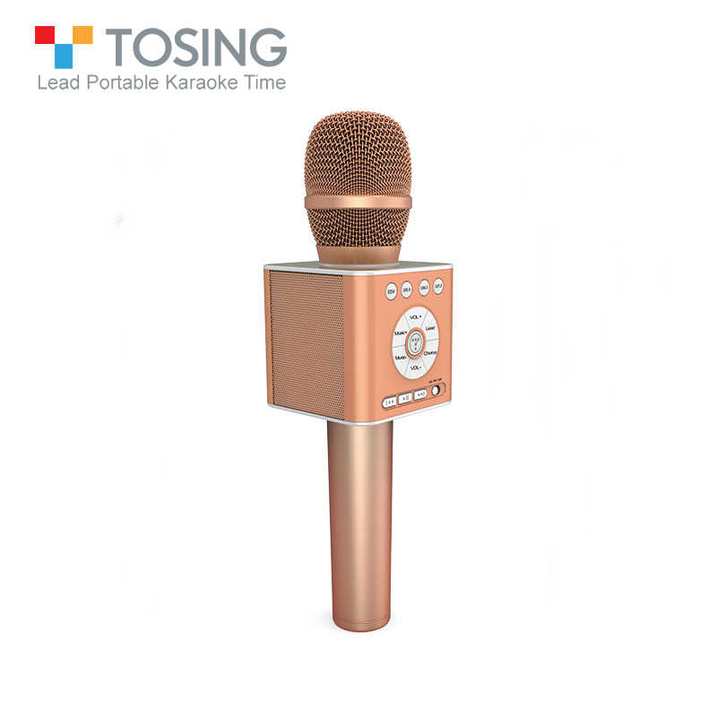 Original Brand Tosing Q12 Karaoke Wireless Bluetooth Microphone With FM Car KTV Chorus Mode Pairing USB Noise Reduction Mic