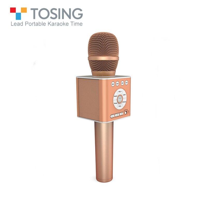 Micro Bluetooth sans fil de marque Tosing Q12 karaoké avec micro de réduction de bruit USB