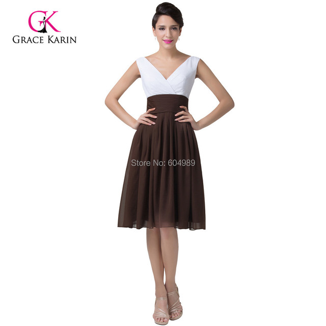 Special Occasion Cheap White Coffee Short Prom Dresses 2015 Plus