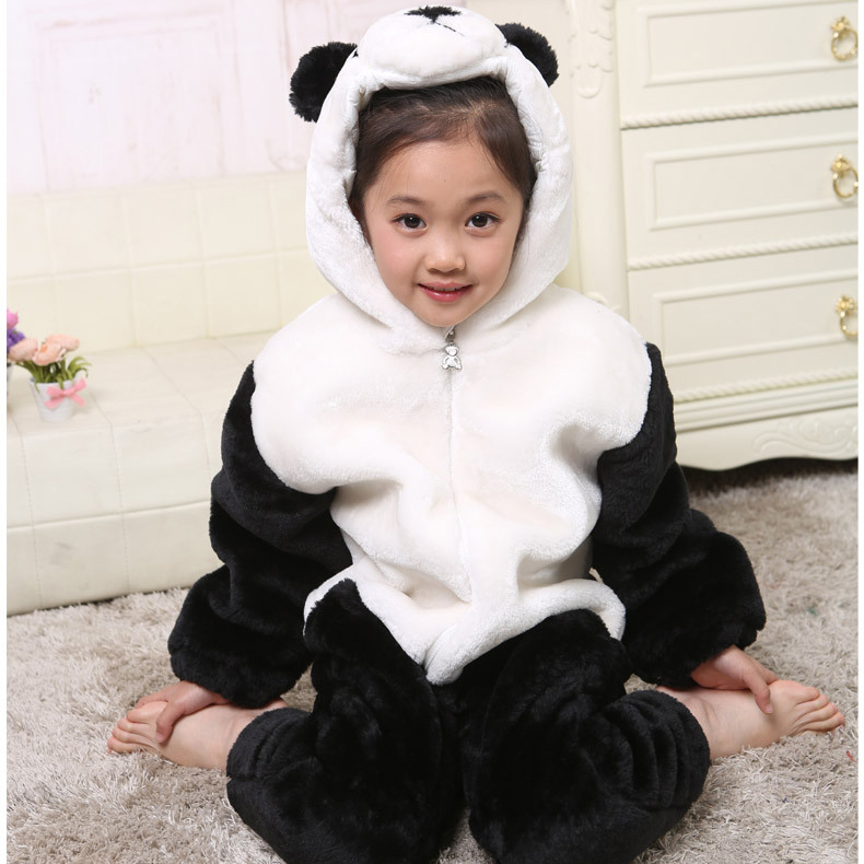 Halloween Panda Baby Cosplay Costumes Unisex Toddlers Long Sleeve Infant Animals Clothes Boy Baby Rompers Winter toddlers baby kids cartoon panda ball knitted crochet beanie cap winter hat