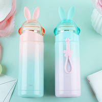 350ML Kids Feeding Cup Cute Rabbit Thermos Flask Portable Stainless Steel Bottle Vacuum Flask Children Gift