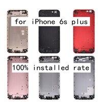 Pour iPhone6s plus Mobile Téléphone Couvercle de La Batterie AAA Grade Téléphone Logement En Aluminium Smartphone Cadre Couverture Arrière pour iPhone 6 plus