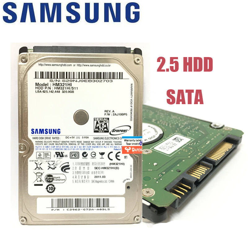 סמסונג מחשב נייד מחברת 500 gb 80 gb 160 gb 250 gb 320 gb 160 גרם 250 גרם 320 gb 500 גרם 1 tb 2.5 HDD 5400 rpm 8 m SATA קשיח פנימי כונני דיסק