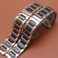 Новые Керамические Ремешки твердые ссылки Смотреть Ремни Браслеты нержавеющей стали Rosegold для платья наручные часы 16 мм 18 мм 20 мм 22 мм