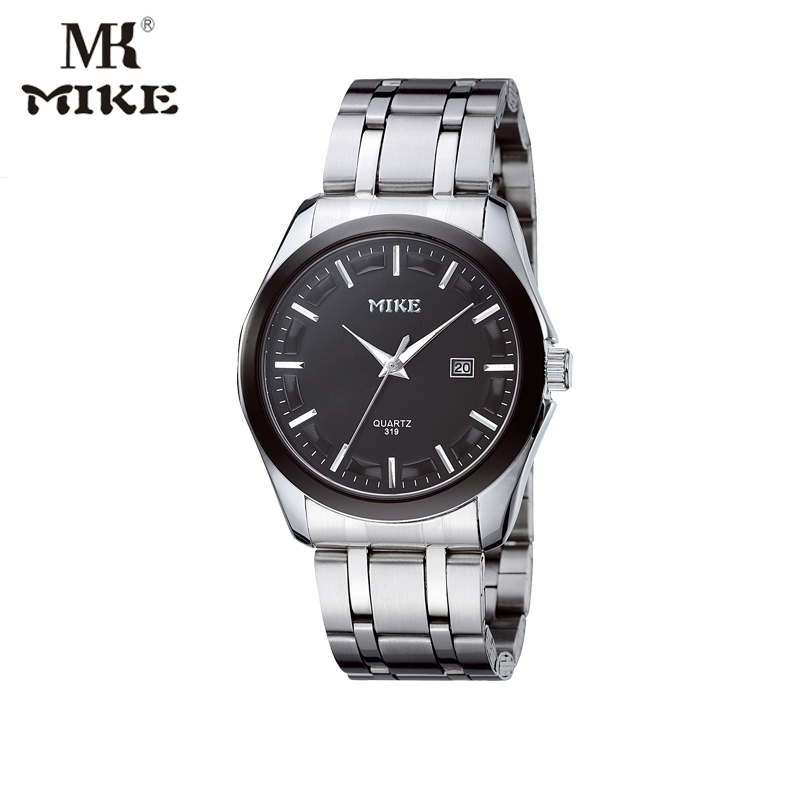 Mike Watch Classic men watches Water resistant Watch Stainless steel Band Japanese movement Clock Men Gift for dad reloj hombre