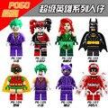 PG8032 super cool 2017 Juguetes de Películas de Batman Harley Quinn Joker Batman Catwoman Robin Poison Ivy Calendario Bloques Juguetes
