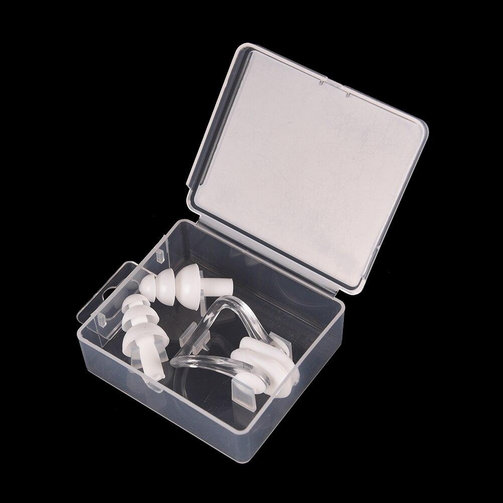 1 Set Silicone Swimming Earplug Nose Clip Watertight Set Sports Fitness Swimming Pool Accessories Nasal Splint Ear Plug