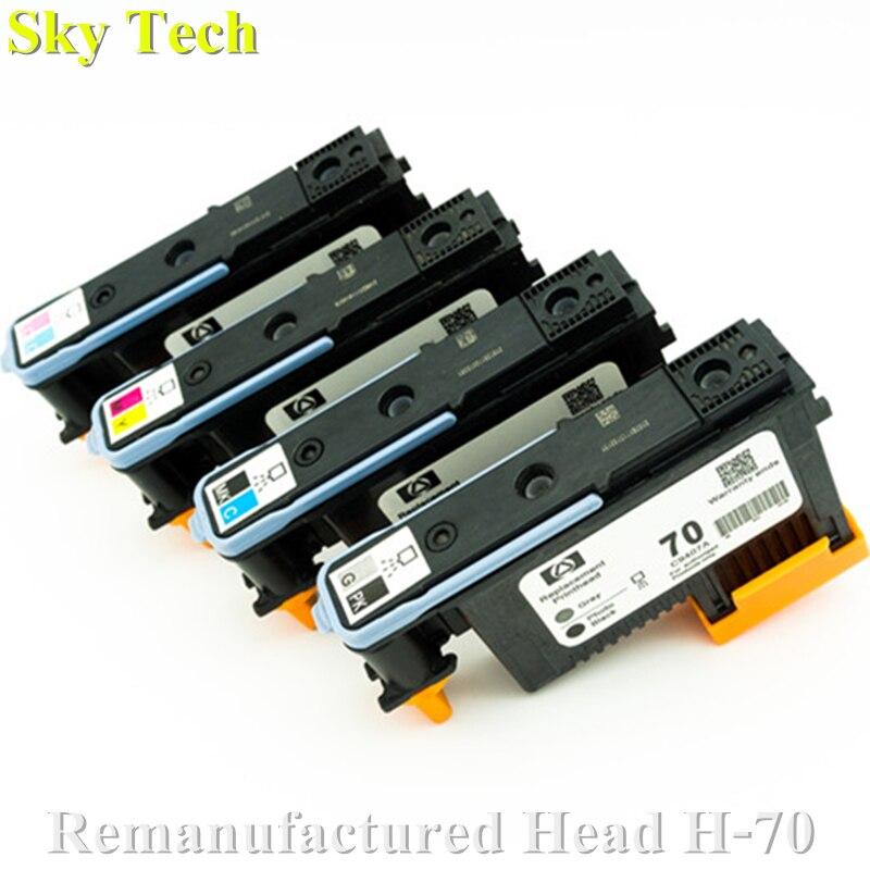 Один набор 4 шт восстановленная печатающая головка для HP70, C9407A C9406A C9405A C9404A для Hp Designjet Z5200 Z2100 Z3200 Z3100 Z5400